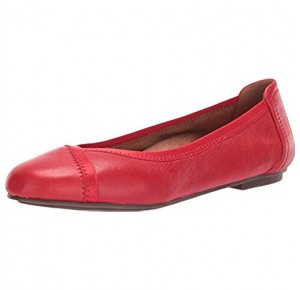 Vionic Women's Spark Caroll Ballet Flat - Ladies Dress Casual Shoes with Concealed Orthotic Arch Support Cherry