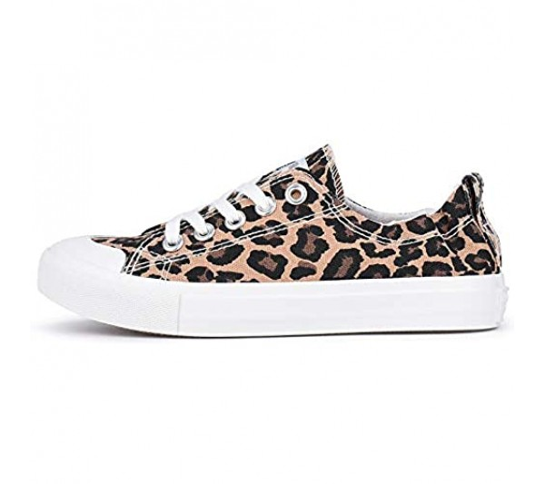 JENN ARDOR Canvas Shoes Sneakers for Women Low Top Slip On Casual Comfortable Walking Flats