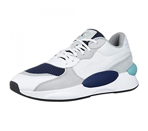 PUMA Mens Rs 9.8 Cosmic Lace Up Sneakers Shoes Casual - White