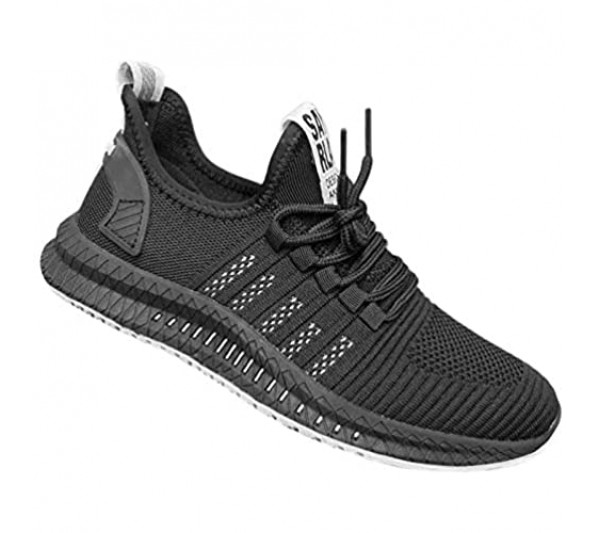 New Men Fashion Casual Lightweight Trainers Breathable Mesh Sneakers Running Women's Athletic Running Shoes Air Cushion Mesh Sneakers