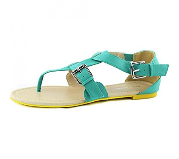 Women's Gladiator Casual Cross Strap Buckle Flats Sandals Summer Beach Sexy Fashion Shoes