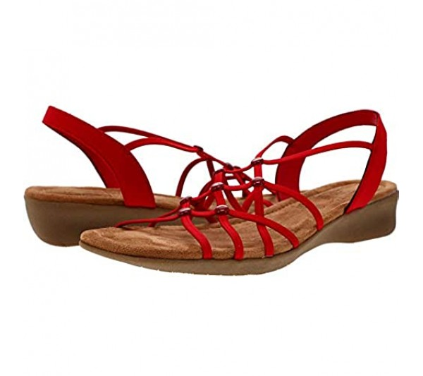 Impo Reddy Stretch Wedge Sandal with Memory Foam