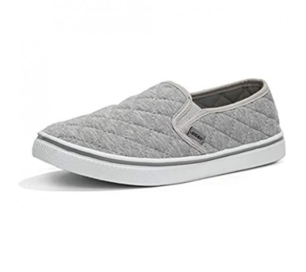 LongBay Women's Cotton Jersey Comfort Sneakers Breathable Casual Loafer Shoes