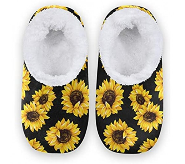 Naanle Women's Closed Back House Slippers Memory Foam Slippers Comfy Slippers Indoor Outdoor Winter Bedroom Shoes Fuzzy Fleece Warm Home Slippers with Anti-Slip Rubber Sole